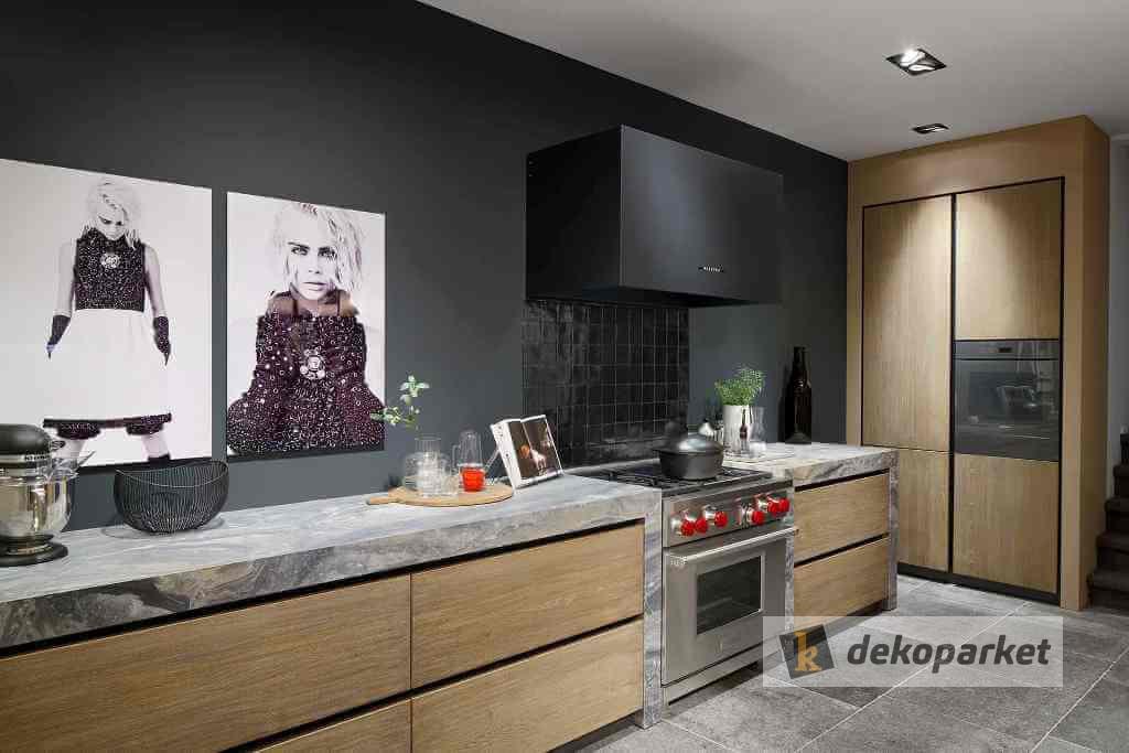 Cocina de madera de roble y granito Tinello - Dekoparket - Mislata - Valencia